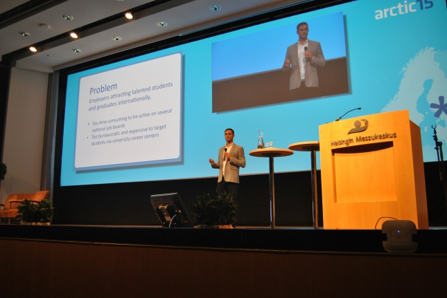 On stage at Arctic15
